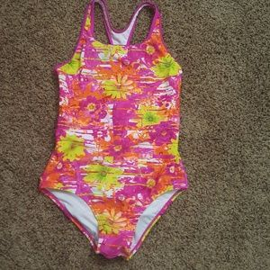 Girls size 16 floral print Speedo swimsuit